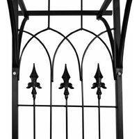 vidaXL Garden Arch 200x52x204 cm - Black