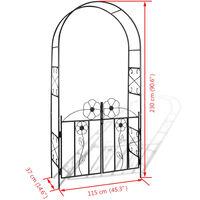 Garden Arch Door - Black