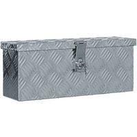vidaXL Aluminium Anthracite Box Silver 48.5x14x20 cm - Silver