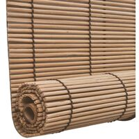 vidaXL Bamboo Roller Blinds 120 x 220 cm Brown - Brown