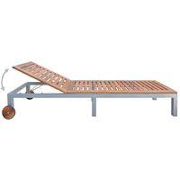 vidaXL Sun Lounger Solid Acacia Wood - Brown
