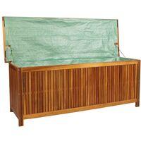 vidaXL Garden Storage Box 150x50x58 cm Solid Acacia Wood - Brown
