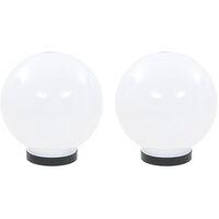 vidaXL LED Bowl Lamps 2 pcs Spherical 20 cm PMMA - White