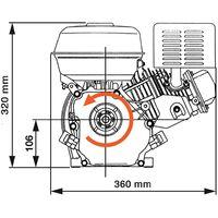 6.5HP 4.8kW Black Petrol Engine