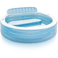 Intex Swim Center Inflatable Pool Family Lounge Pool 57190NP - Blue
