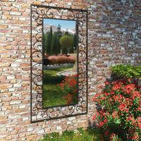 vidaXL Garden Wall Mirror Rectangular 60x110 cm Black - Black