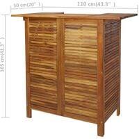 vidaXL Bar Table and Chair Set 3 Pieces Solid Acacia Wood - Brown