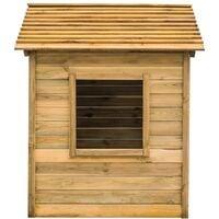 vidaXL Outdoor Playhouse 123x120x146 cm Pinewood
