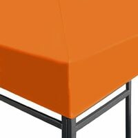 vidaXL Gazebo Top Cover 310 g/m² 3x3 m Orange - Orange