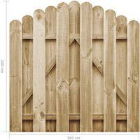 vidaXL Garden Gate Impregnated Pinewood 100x100 cm - Brown