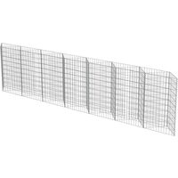 vidaXL Gabion Wall Galvanised Steel 450x30x100 cm - Silver