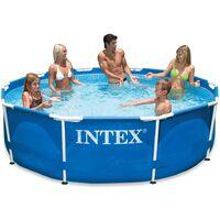 Intex Swimming Pool Metal Frame 305x76 cm 28200NP - Blue