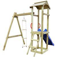 vidaXL Playhouse Set with Slide Ladders 237x168x218 cm Wood - Multicolour