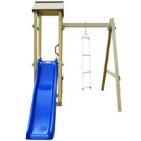 vidaXL Playhouse with Slide Ladder 228x168x218 cm Wood - Multicolour