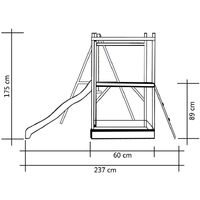 vidaXL Playhouse with Slide Ladders Swing 242x237x175 cm Wood - Multicolour
