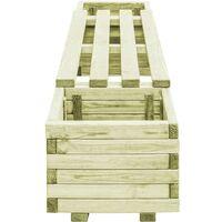 vidaXL Garden Planter Bench Impregnated Pinewood - Green