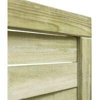 vidaXL Garden Gate Impregnated Pinewood 100x125 cm Green - Green