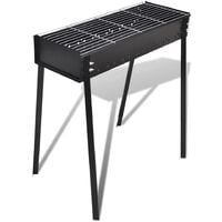 BBQ Stand Charcoal Barbecue Square 75 x 28 cm - Black