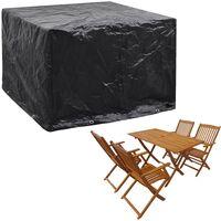 vidaXL Garden Furniture Cover 8 Eyelets 122x112x98 cm - Black