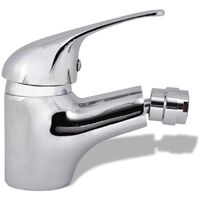vidaXL Bidet Faucets 2 pcs Chrome - Silver