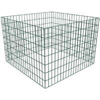 vidaXL Square Mesh Garden Composter 100 x 100 x 70 cm - Green