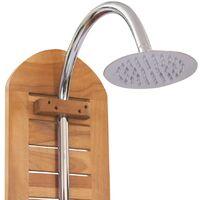 vidaXL Garden Shower Solid Teak 70x75x204 cm - Brown