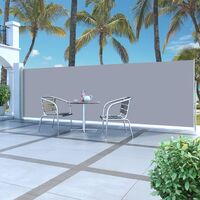 vidaXL Retractable Side Awning 160 x 500 cm Grey - Grey