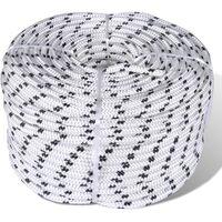 vidaXL Braided Boat Rope Polyester 6 mm 250 m White