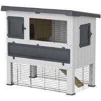 Ferplast Rabbit Hutch Grand Lodge 120 Plastic Grey 57085360 - Grey