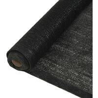 vidaXL Privacy Net HDPE 2x10 m Black - Black