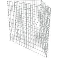 vidaXL Gabion Raised Bed Galvanised Steel 75x75x50 cm - Silver