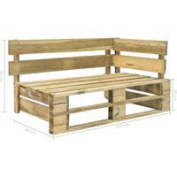 vidaXL Garden Pallet Corner Bench Wood - Brown