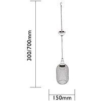 Luxform Solar LED Garden Hanging Lantern Samba - Black
