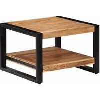 vidaXL Coffee Table 60x60x40 cm Solid Acacia Wood - Brown