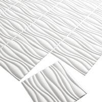 WallArt 24 pcs 3D Wall Panels GA-WA04 Waves - White