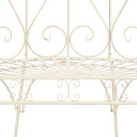 vidaXL Garden Bench 95 cm Iron Antique White - White