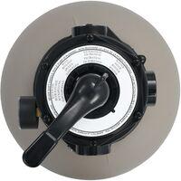 vidaXL Pool Sand Filter with 4 Position Valve Grey 350 mm - Grey