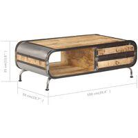 vidaXL Coffee Table 100x50x35 cm Solid Mango Wood - Brown