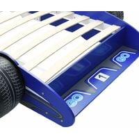 vidaXL Children's Race Car Bed 90x200 cm Blue - Blue