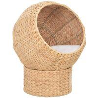 vidaXL Cat Basket Seagrass - Brown