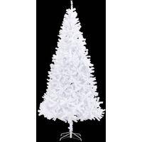 vidaXL Artificial Christmas Tree 300 cm White - White