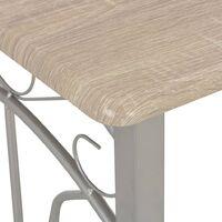 vidaXL 3 Piece Bar Set Wood and Steel - Grey