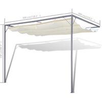 vidaXL Garden Patio Awning Sun Shade Canopy Wall Gazebo - Cream