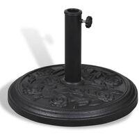 Resin Round Parasol Base - Black
