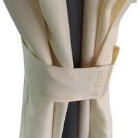 vidaXL Round Gazebo with Curtains 3,5 x 2,7 m - Cream