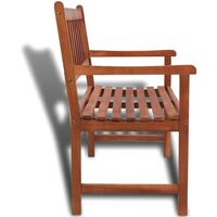 vidaXL Garden Bench 120 cm Solid Acacia Wood - Brown