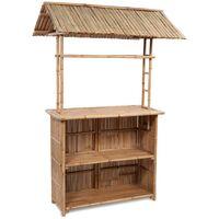 vidaXL 3 Piece Bistro Set Bamboo - Brown