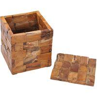 vidaXL Storage Stool Solid Teak Wood - Brown