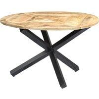 vidaXL Dining Table Round Solid Mango Wood 120x76 cm - Brown