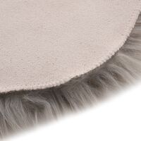 vidaXL Rug 60x90 cm Faux Sheepskin Light Grey